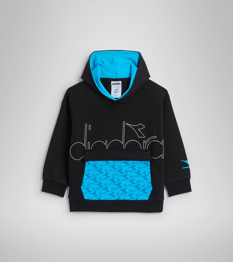 Hooded sweatshirt - Kids JB.HOODIE HOOPLA BLACK - Diadora