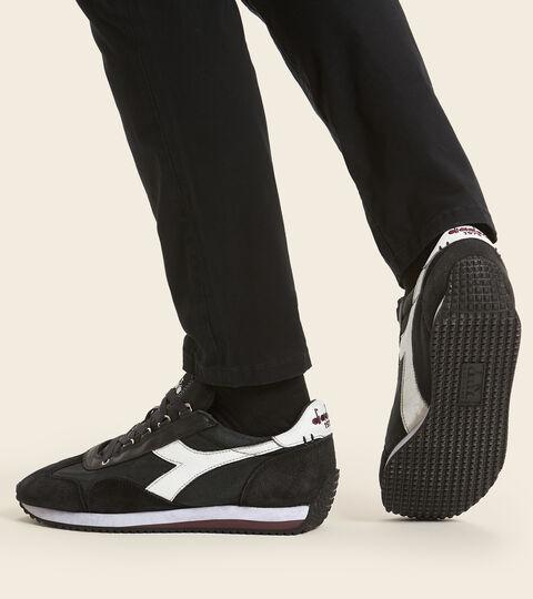 Footwear Heritage UNISEX EQUIPE H DIRTY STONE WASH EVO ANTHRACITE BLACK Diadora