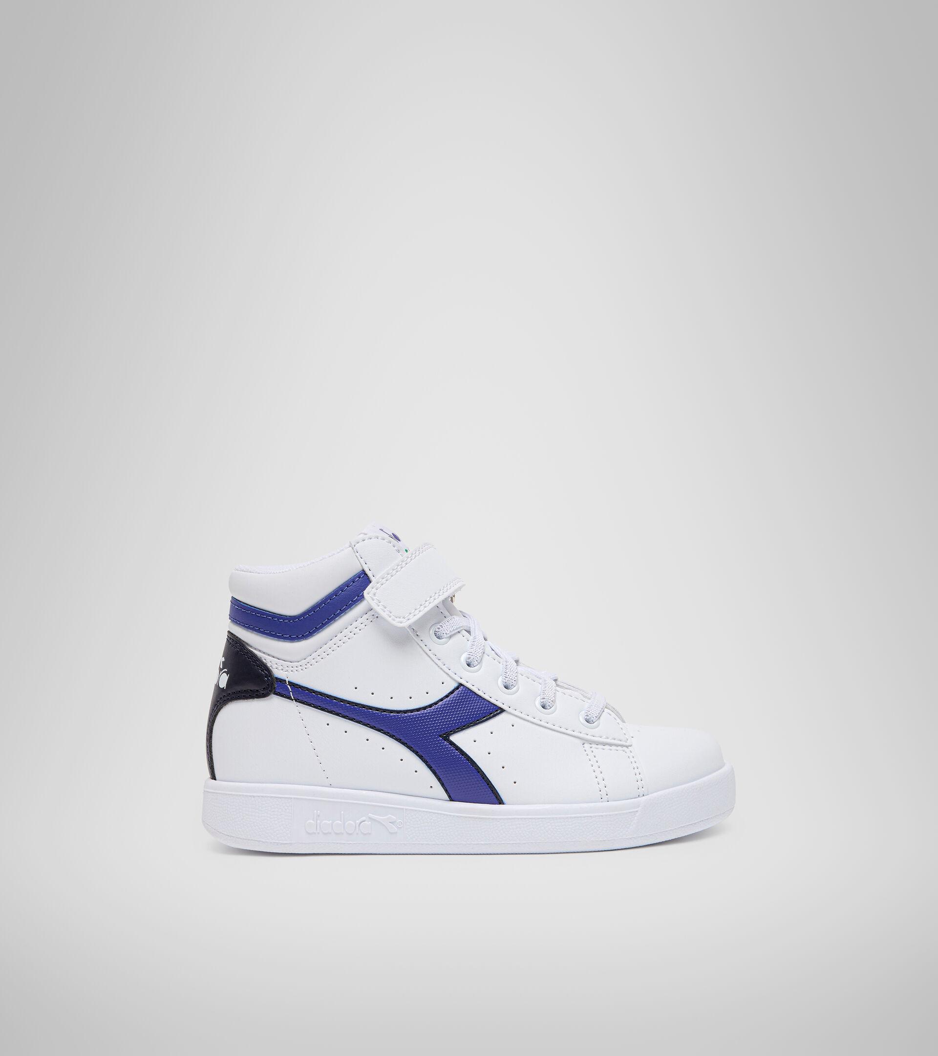 Footwear Sport BAMBINO GAME P HIGH PS BIANCO/BLU CLASSICO Diadora