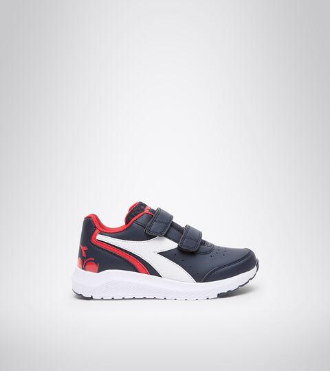 Chaussures de running - Unisexe Enfant FALCON SL JR V BLEU DOMAINE/ROUGE HAUT RISQUE - Diadora
