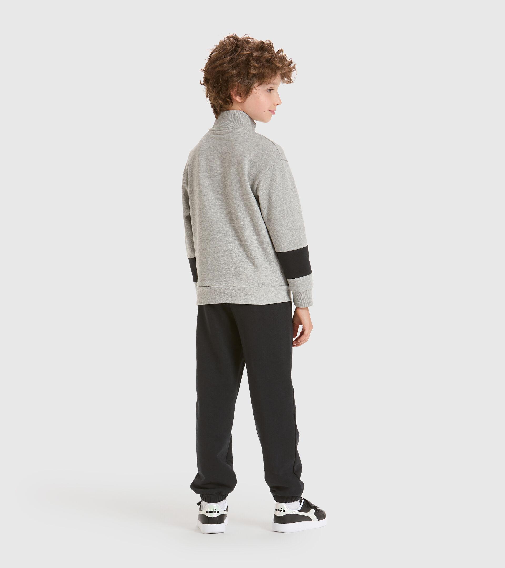 Trainingsanzug - Kinder JB.TRACKSUIT FZ HOOPLA LICHT MITTELGRAU MELANGE - Diadora