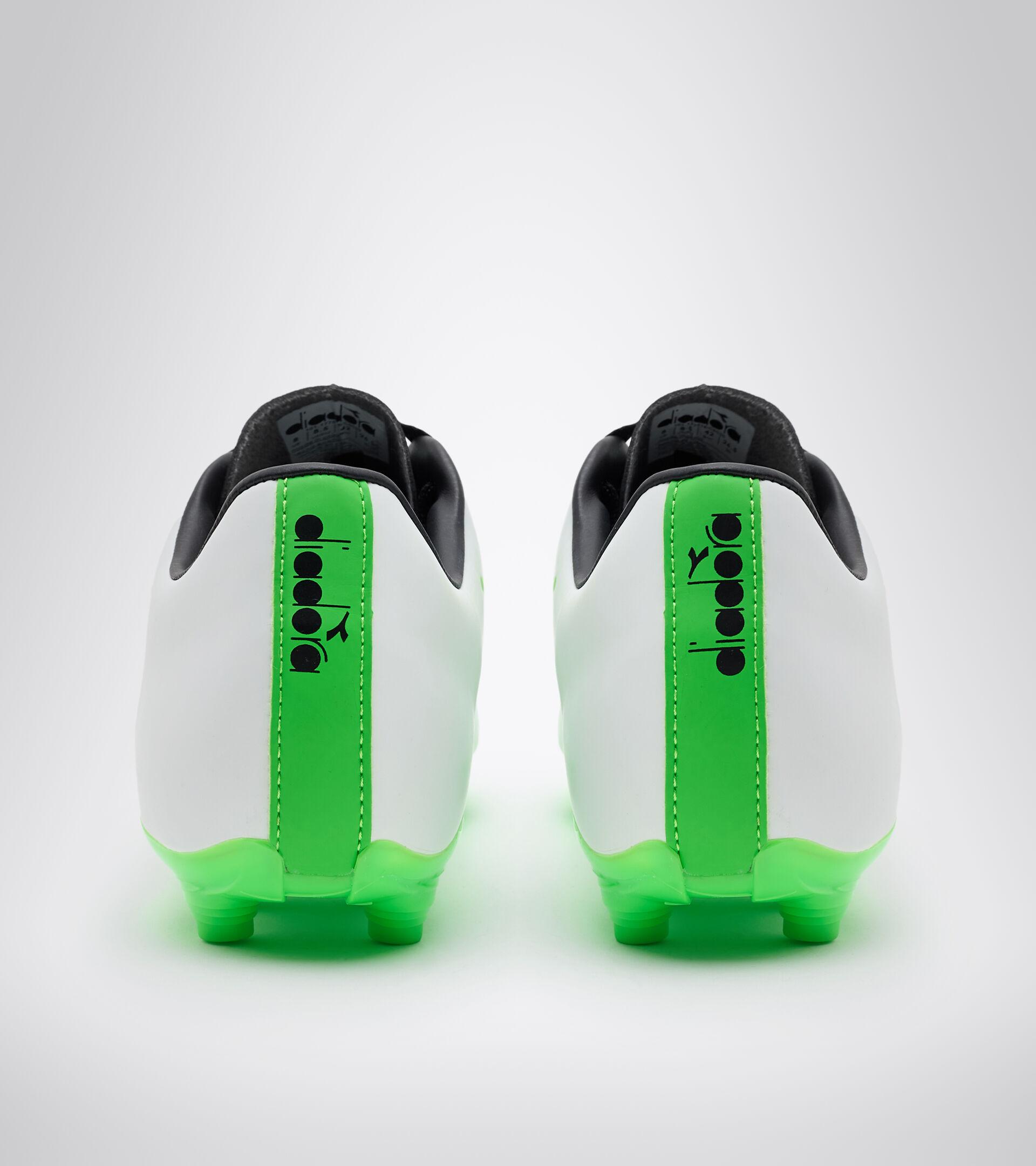 Botas de fútbol para superficies compactas - Unisex PICHICHI 4 MG14 BLANCO/VERDE FLUO/NEGRO - Diadora