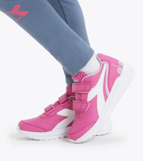 Chaussures de running - Unisexe Enfant FALCON SL JR V ROSA FUCSIA/BIANCO - Diadora