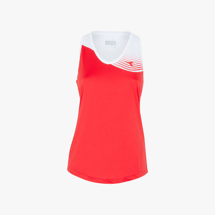 L. TANK COURT, TOMATO RED, large
