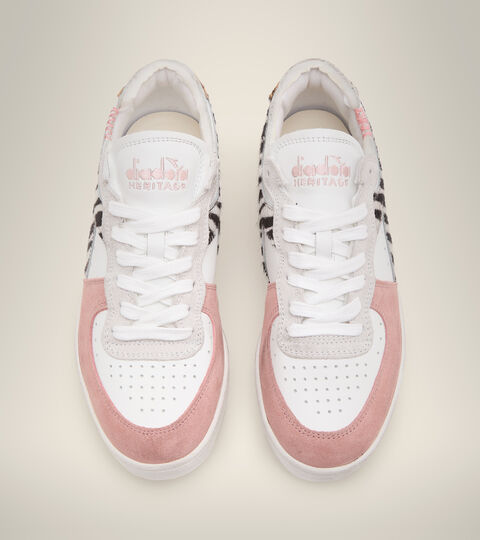 Footwear Heritage DONNA MI BASKET ROW CUT SAVANNAH WN WHITE Diadora