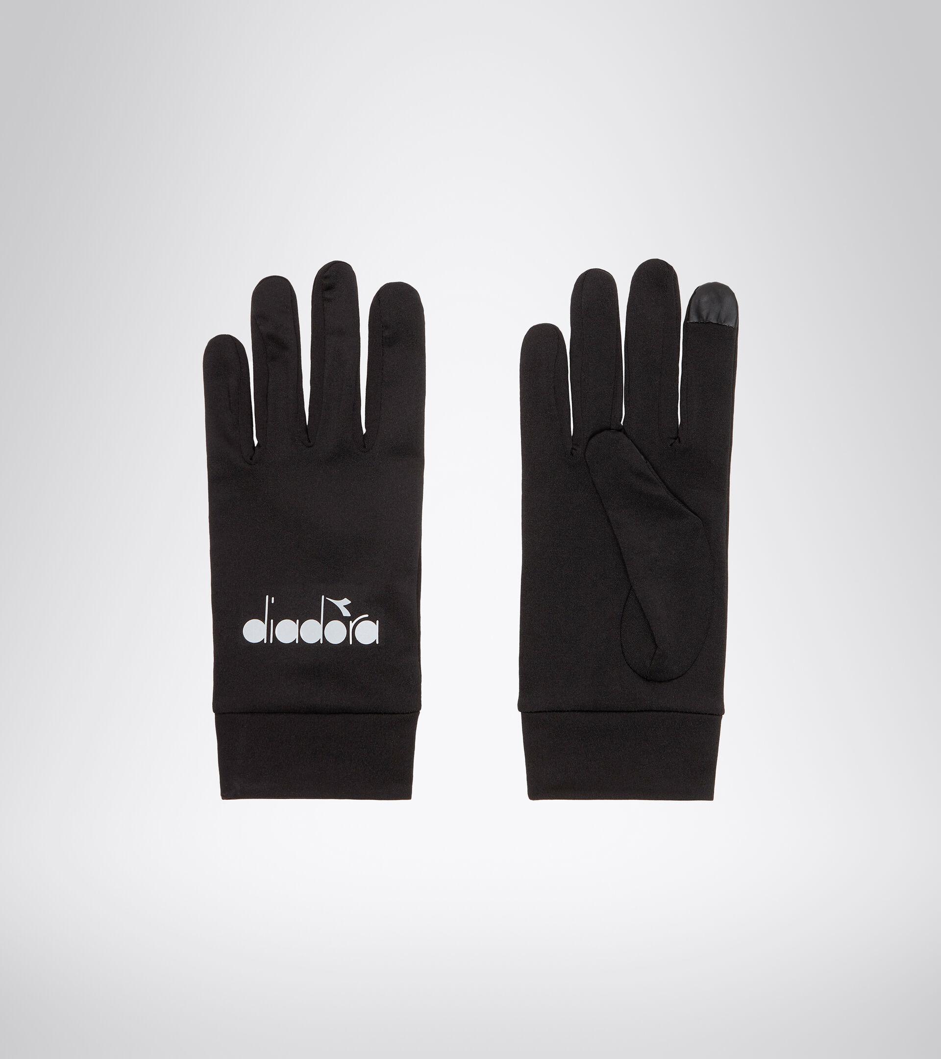 Running gloves - Unisex WINTER GLOVES TOUCH PIRATE BLACK 1 - Diadora