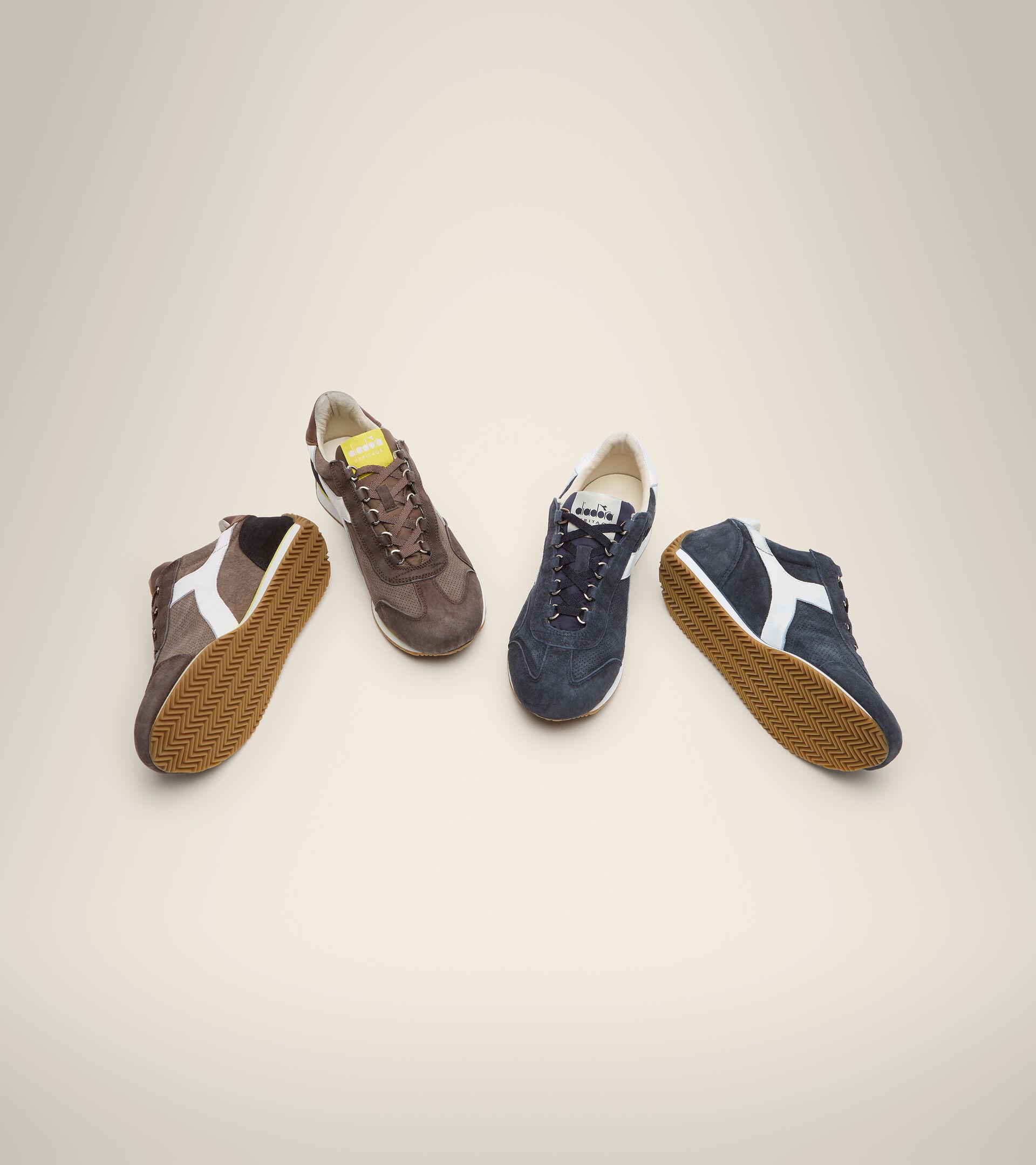 Footwear Heritage UNISEX EQUIPE SUEDE SW MARRON PEPITAS DE CHOCOLATE Diadora