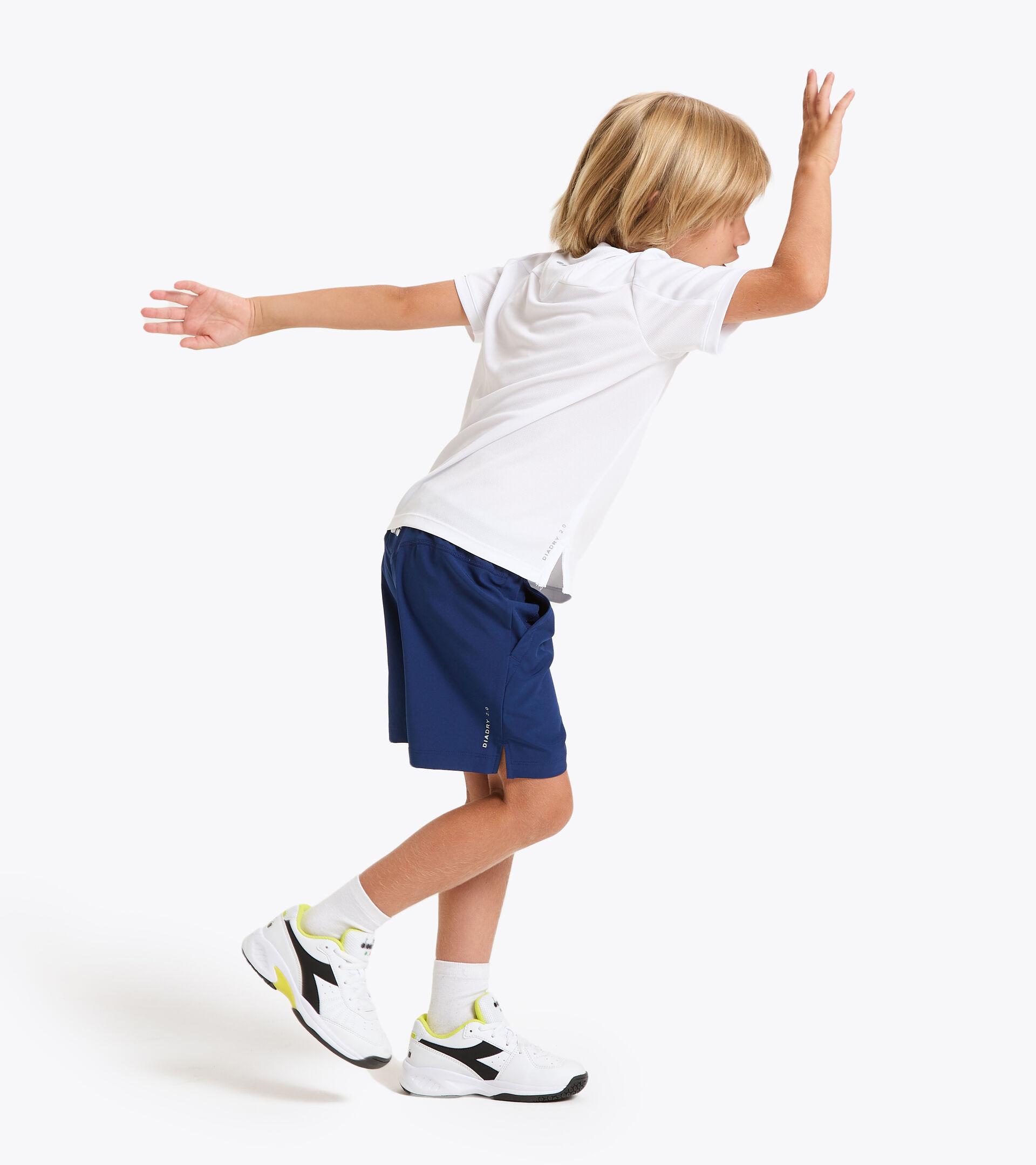 Camiseta de tenis - Junior J. T-SHIRT COURT BLANCO VIVO - Diadora
