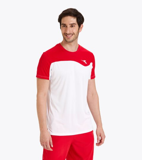 Camiseta de tenis - Hombre T-SHIRT TEAM ROJO TOMATE - Diadora