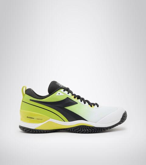 Clay and hard court tennis shoe - Men SPEED BLUSHIELD 5 AG WHITE/BLACK/LIME GREEN - Diadora