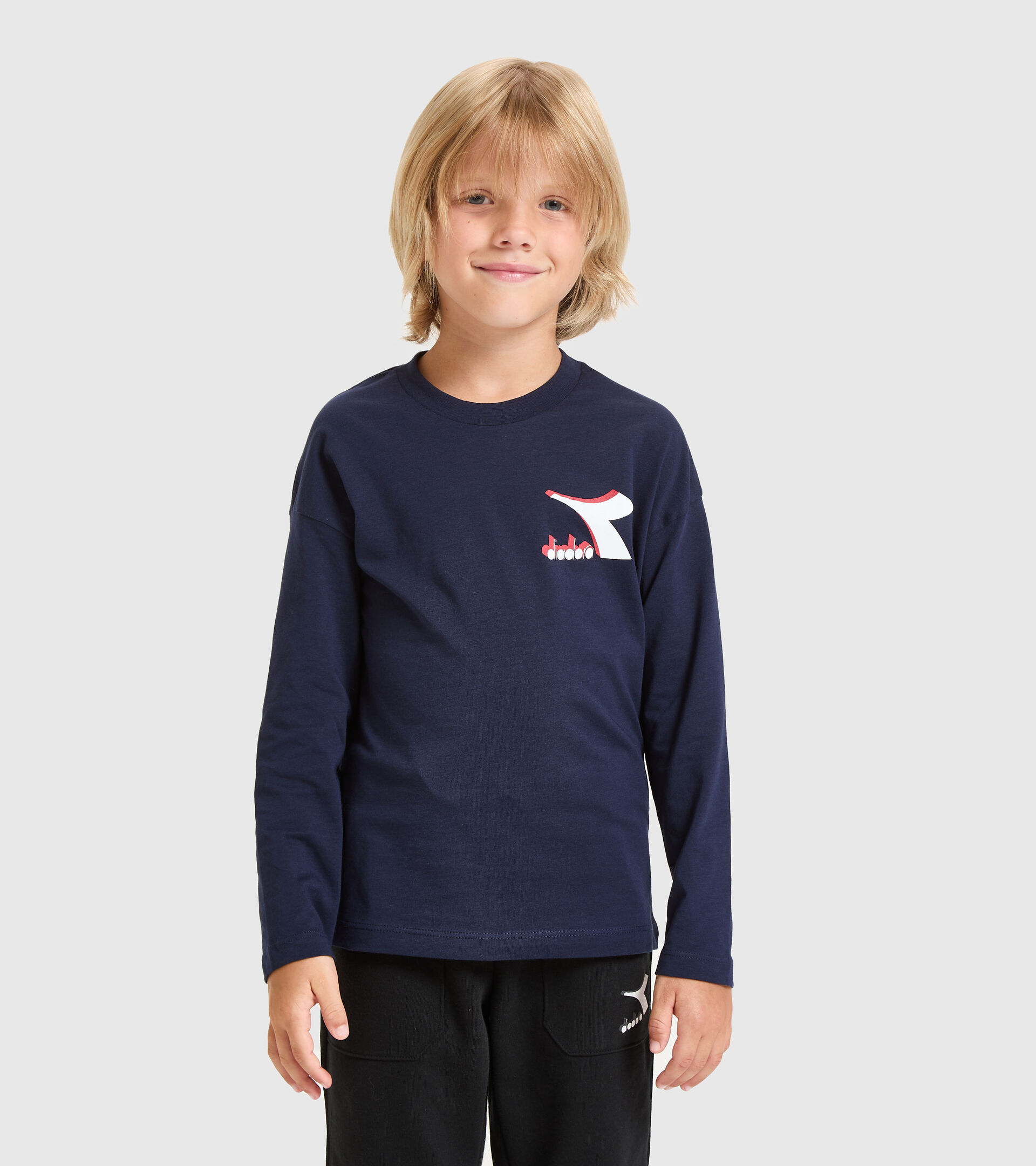 T-Shirt - Kinder JU.LS T-SHIRT CUBIC CABAN BLAU - Diadora