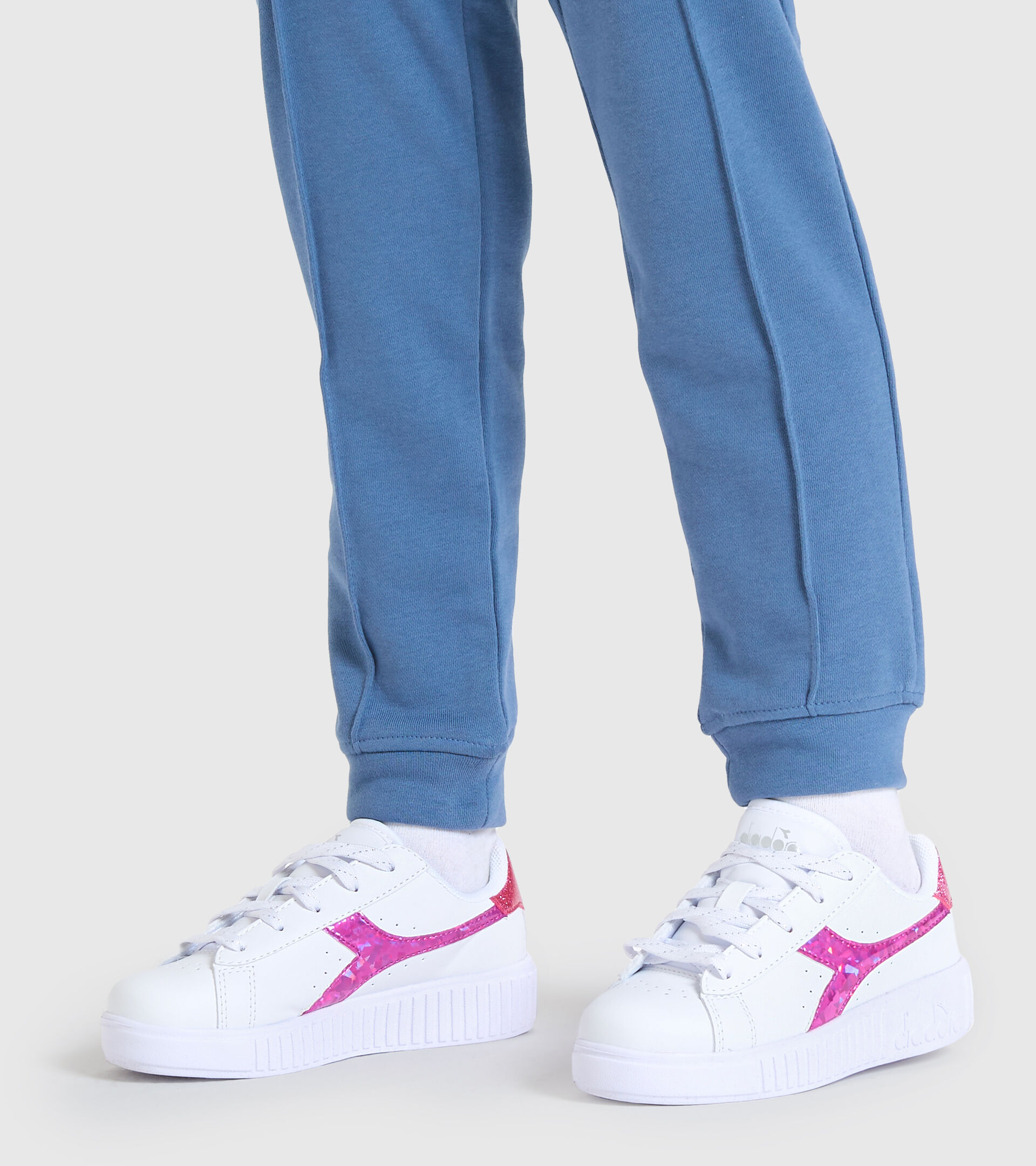 Sports shoes - Kids 4-8 years GAME STEP DIAMONDS PS WHITE/FUCHSIA PINK - Diadora