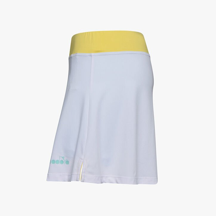 L. SKIRT EASY TENNIS, SUPER WHITE /TINT BLUE, large