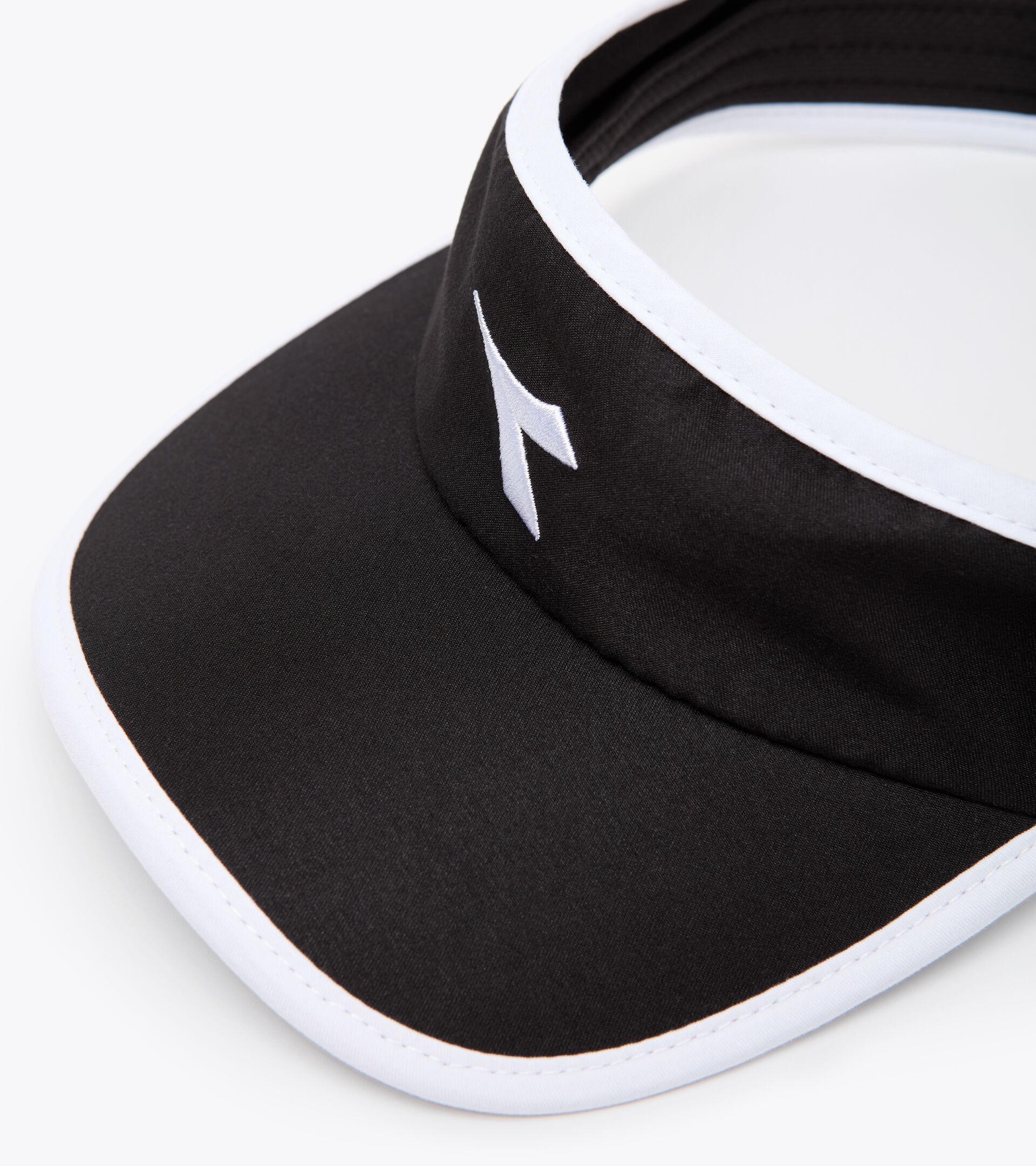 Tennis visor - Unisex VISOR BLACK/OPTICAL WHITE - Diadora