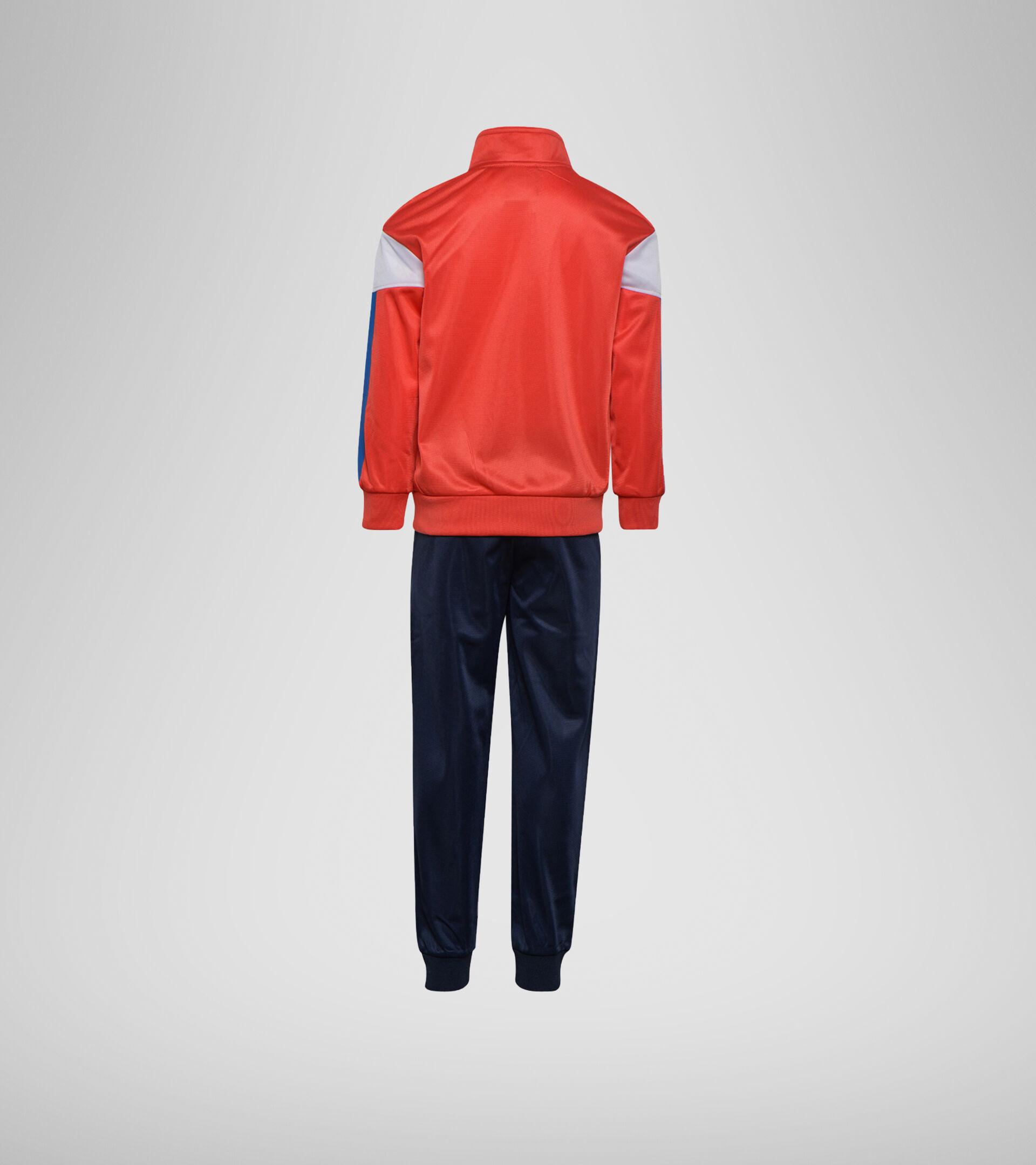 Apparel Sport BAMBINO JB. TRACKSUIT FZ DIADORA CLUB POPPY RED Diadora