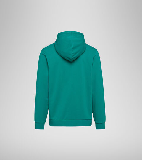Hooded sweatshirt - Men HOODIE BIG LOGO GREEN DEEP - Diadora