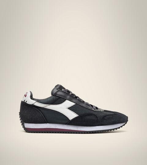 Footwear Heritage UNISEX EQUIPE H DIRTY STONE WASH EVO NERO ANTRACITE Diadora