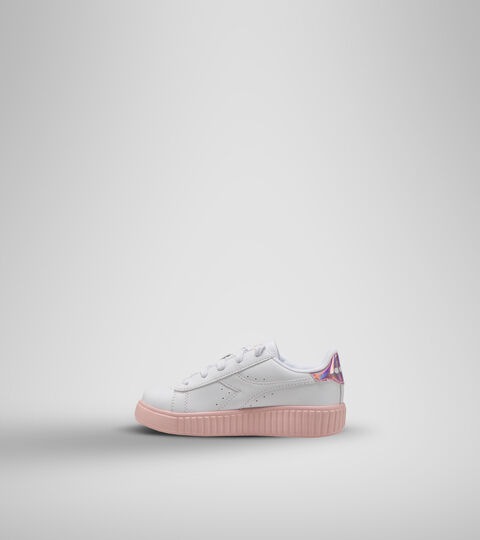 Footwear Sport BAMBINO GAME STEP PS WHITE/PINK PEACHSKIN Diadora