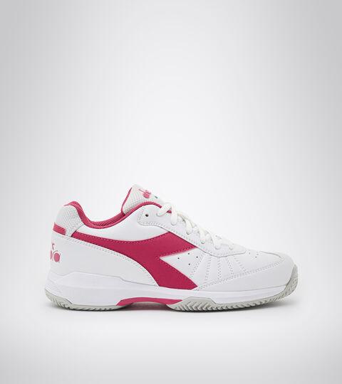 Clay court tennis shoe - Women S. CHALLENGE 3 W SL CLAY WHITE/JAZZY - Diadora