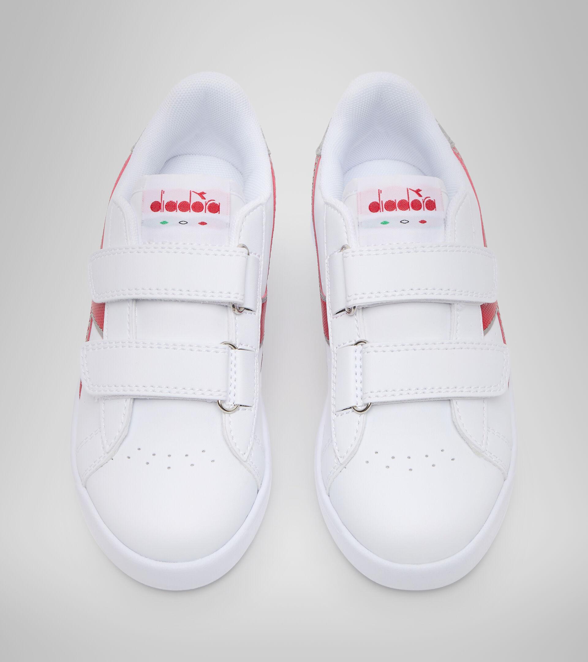 Sports shoes - Kids 4-8 years GAME P PS WHITE/TANGO RED - Diadora