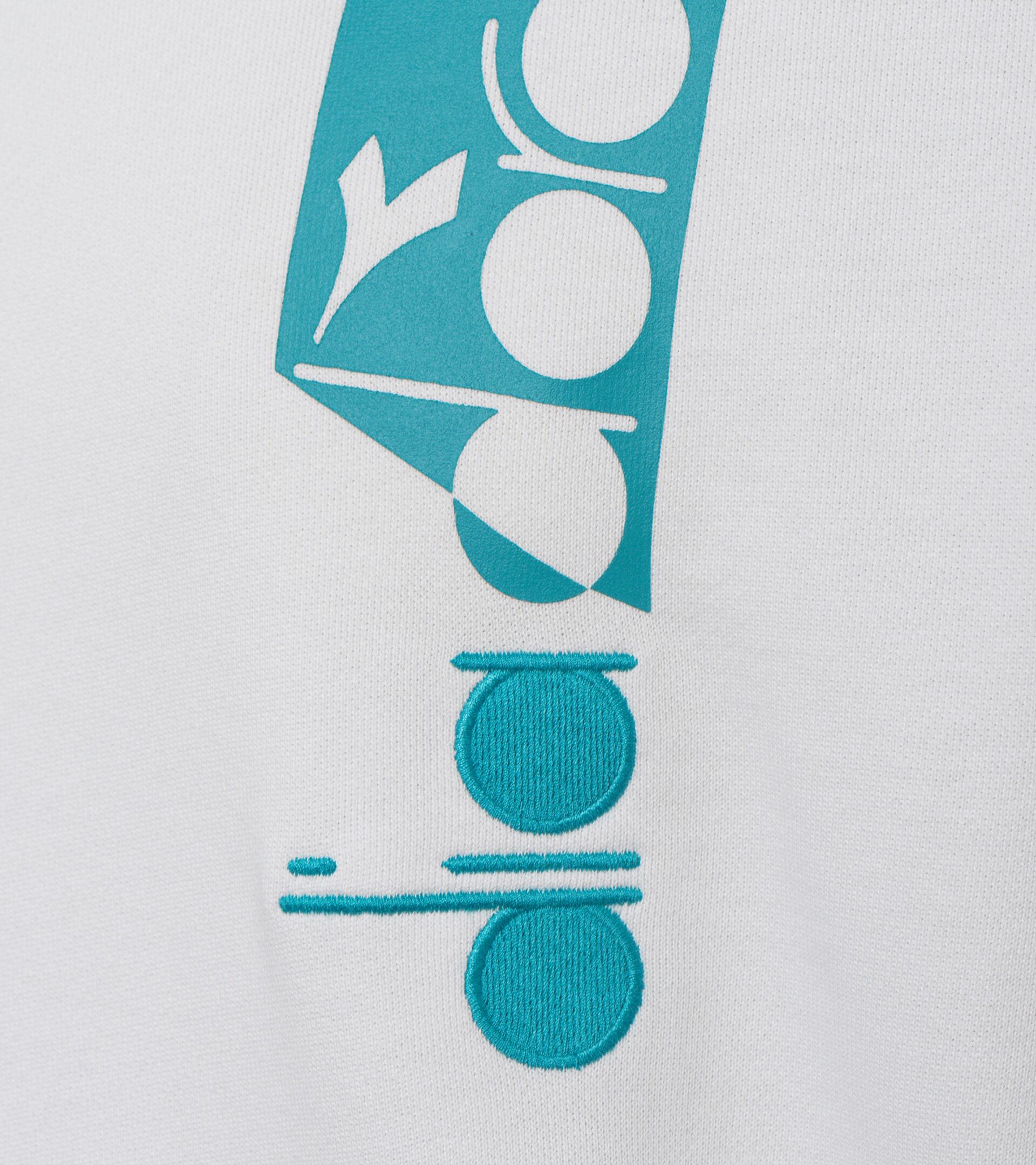 Apparel Sportswear UOMO HOODIE ICON WHITE MILK Diadora