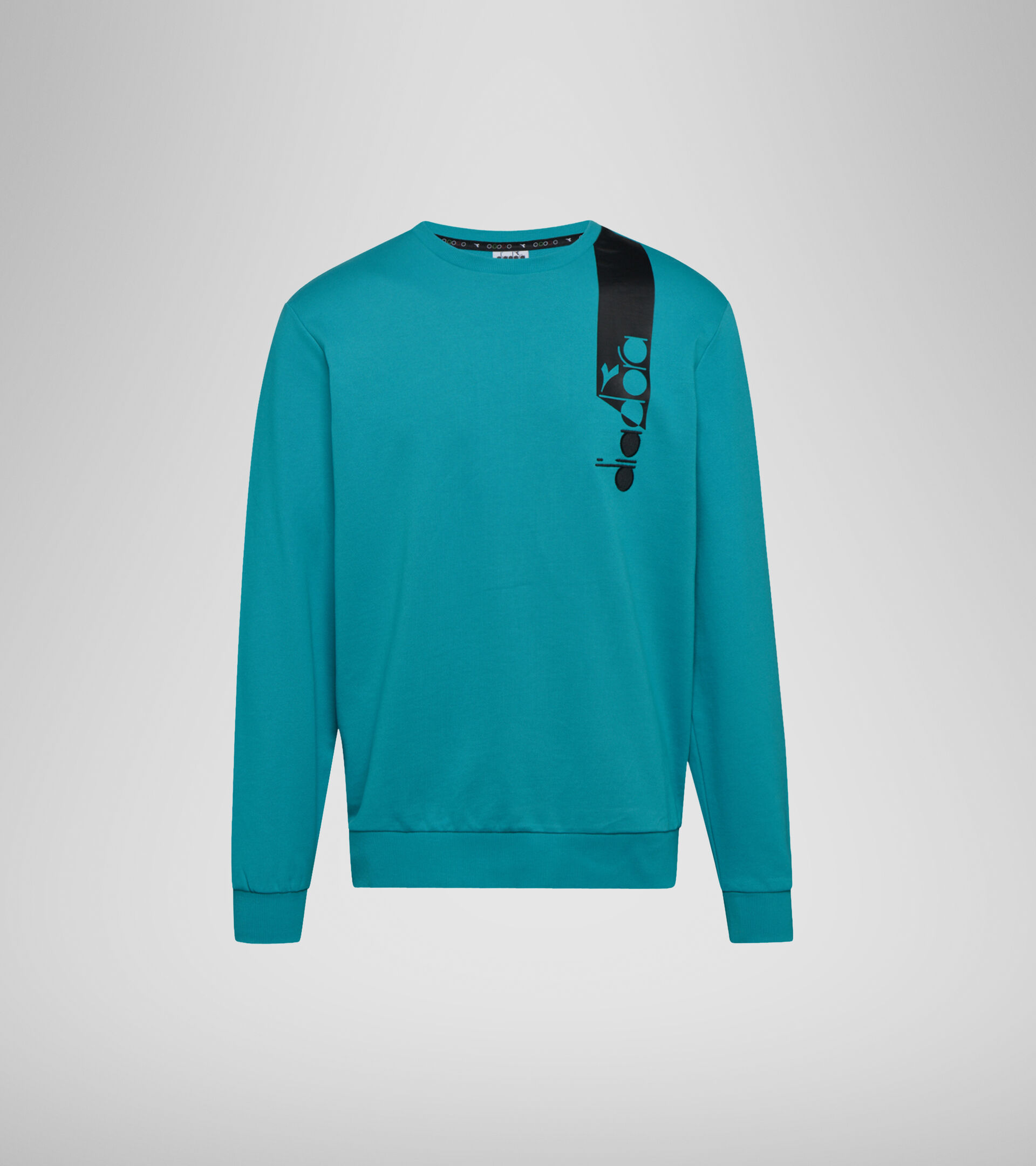 Apparel Sportswear UOMO SWEATSHIRT CREW ICON VERDE VIRIDIAN Diadora