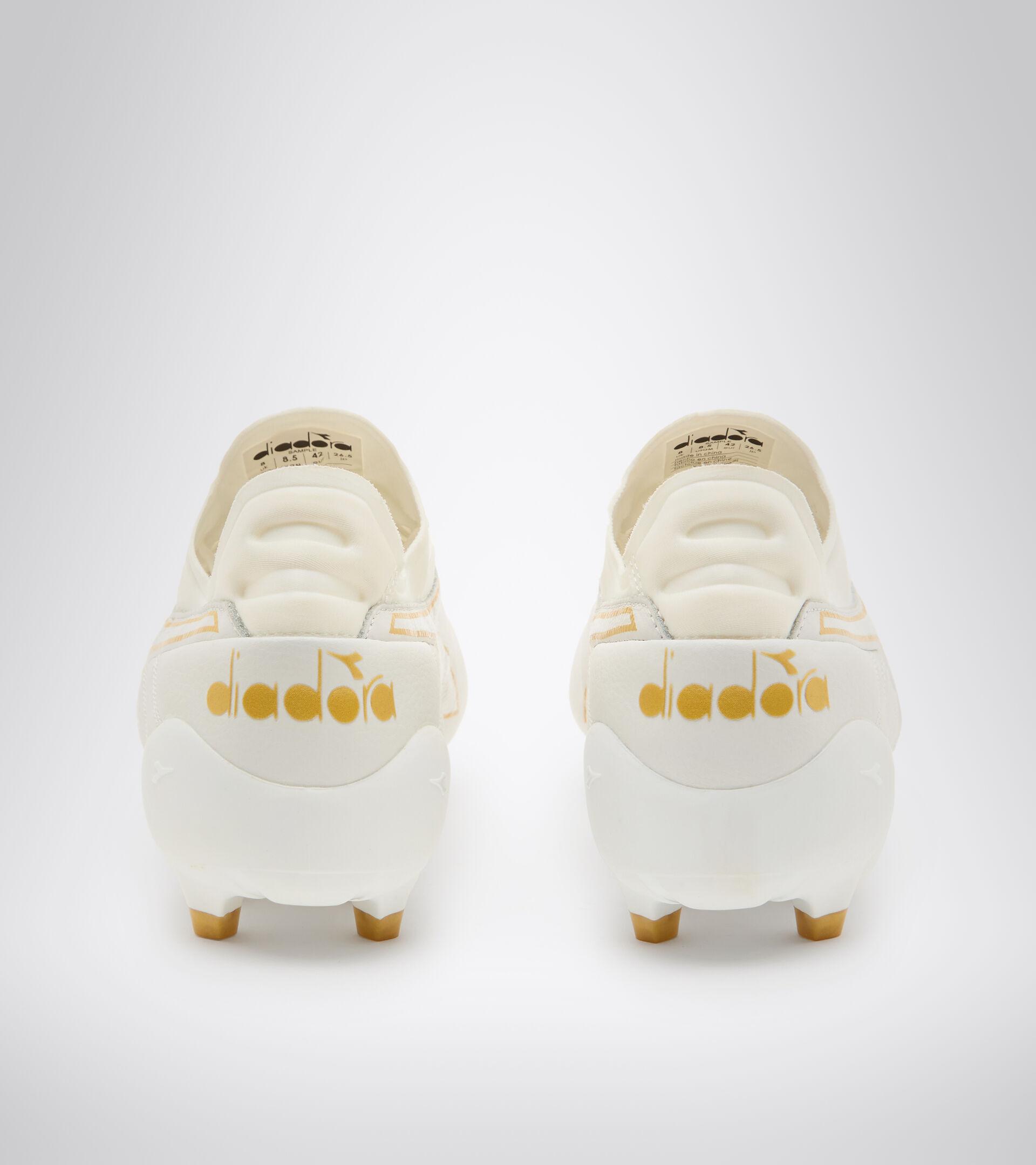 Firm ground football boot BRASIL ELITE TECH LPX WHITE/GOLD - Diadora