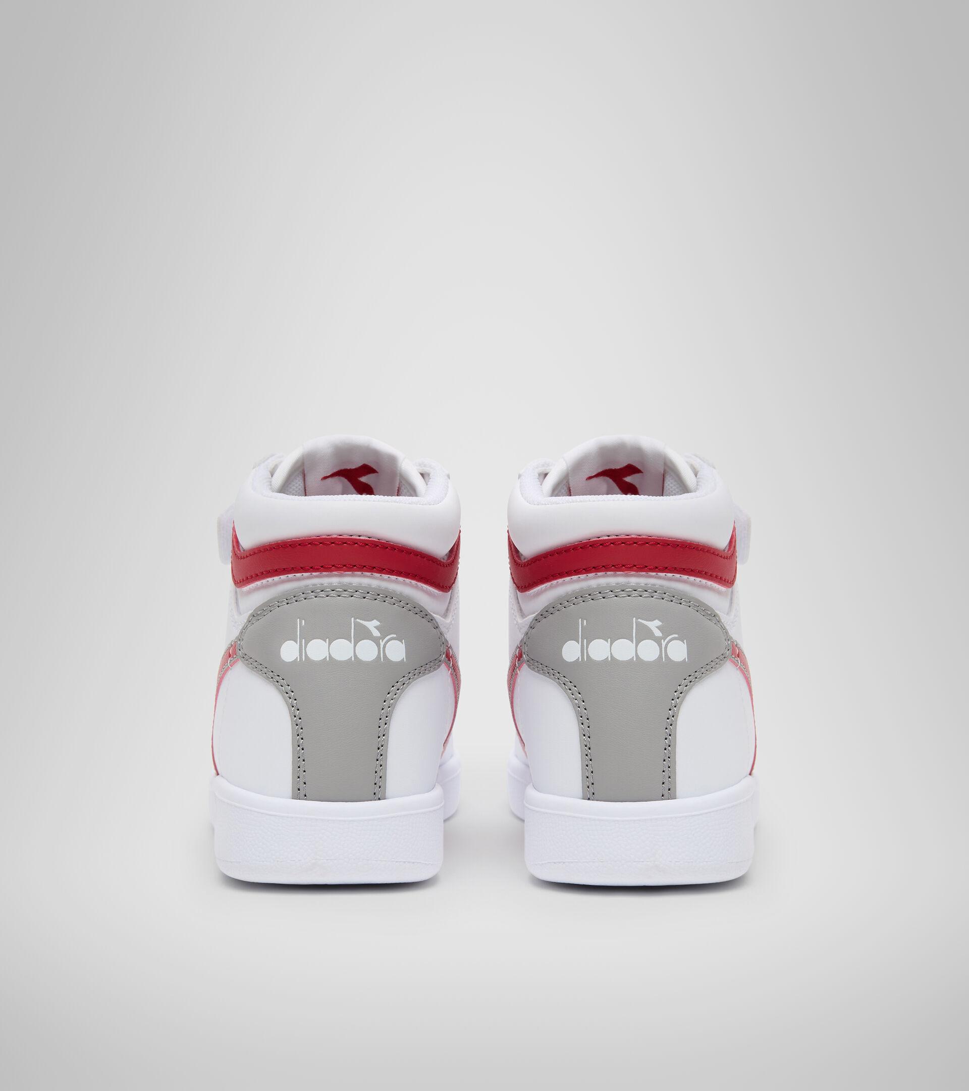 Sports shoes - Kids 4-8 years GAME P HIGH PS WHITE/TANGO RED - Diadora