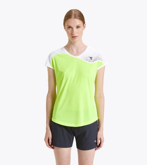 Tennis-T-Shirt - Damen L. T-SHIRT COURT FLUO GELB DD - Diadora