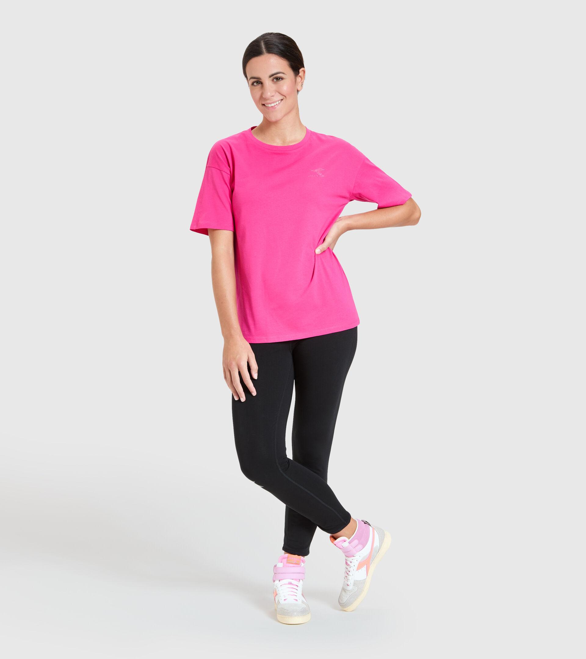 T-Shirt - Damen L.T-SHIRT SS BLINK MAGENTAROT - Diadora