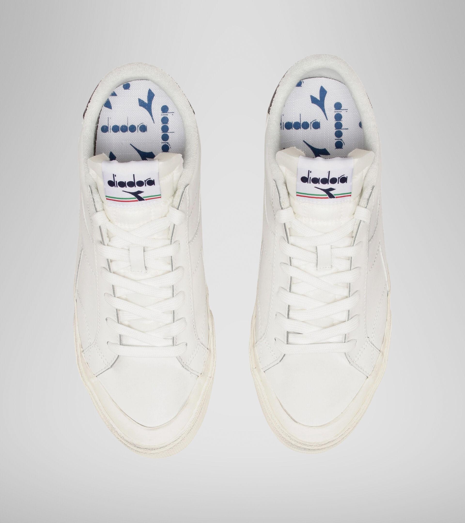 Footwear Sportswear UNISEX MELODY LEATHER DIRTY BLANCO/NEGRO IRIS Diadora