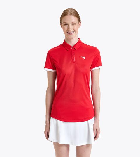 Tennis-Polohemd - Damen L. POLO COURT TOMATENROT - Diadora