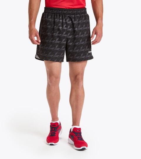 Short de running - Homme MICROFIBER SHORTS 12,5 CM NOIR PARTOUT - Diadora