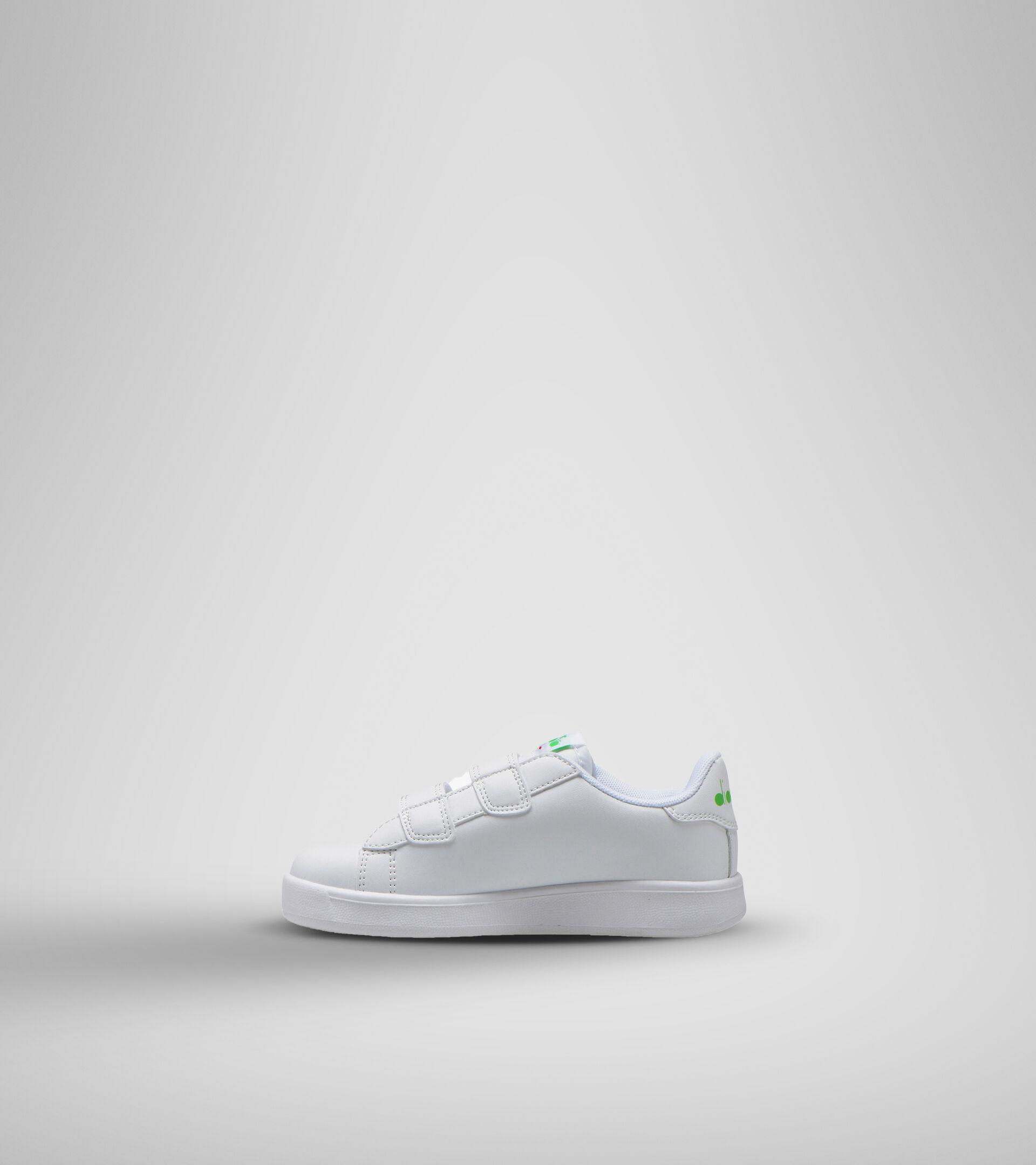 Sports shoe - Unisex kids GAME P BOLDER PS WHITE/GREEN EVIDENCE - Diadora