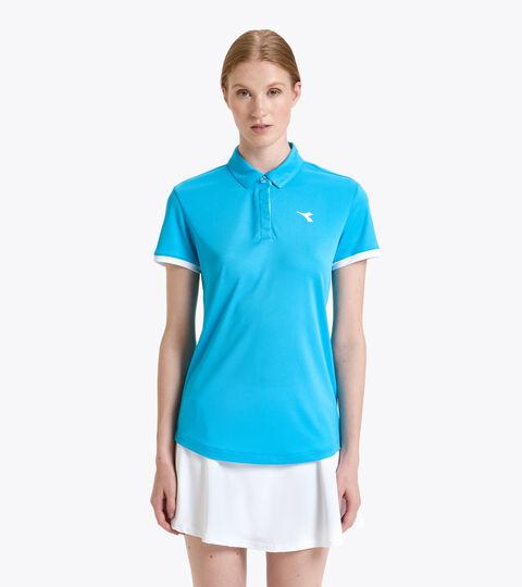Tennis-Polohemd - Damen L. POLO COURT KONIGSBLAU FLUO - Diadora