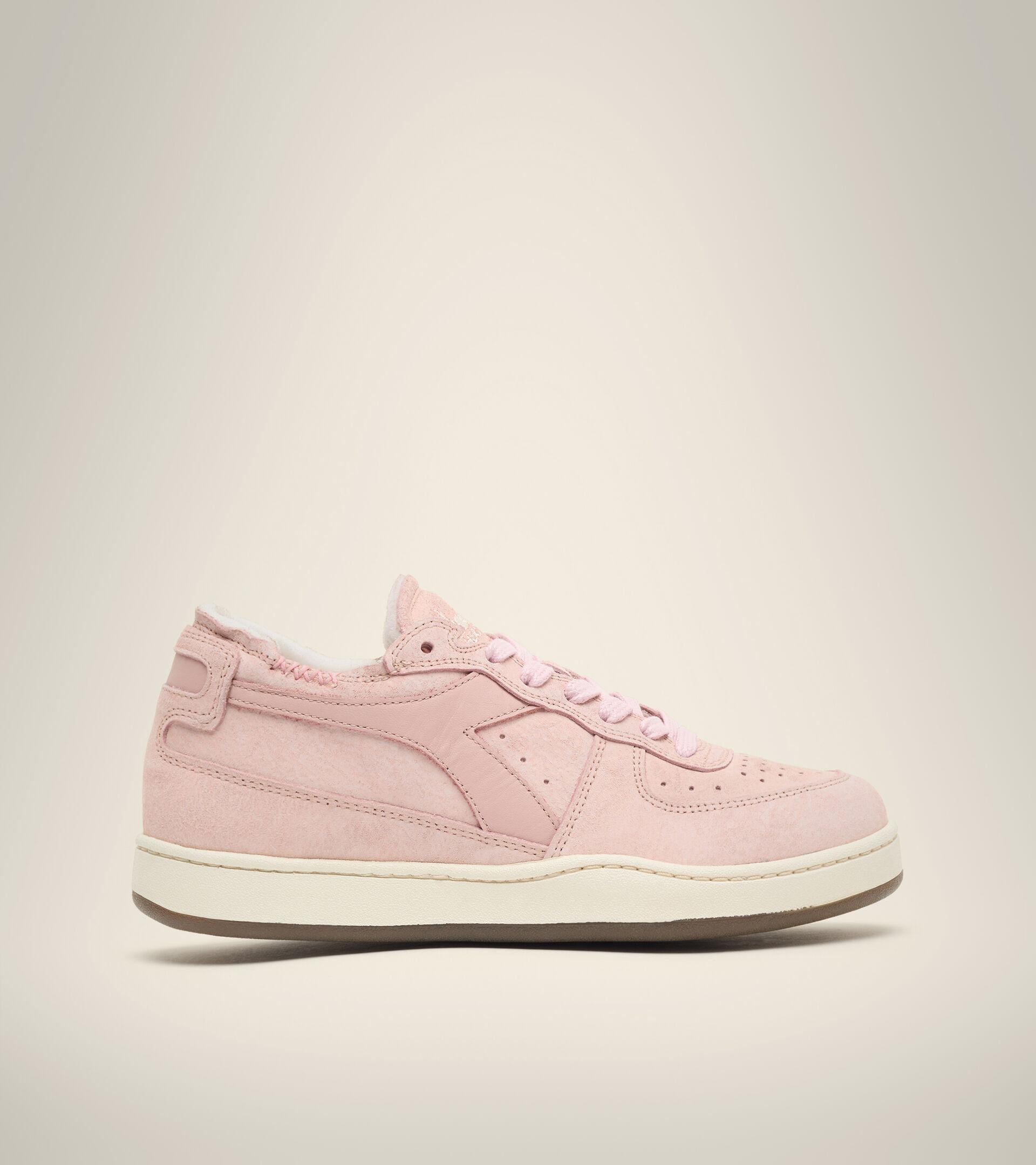 Footwear Heritage DONNA MI BASKET ROW CUT SUEDE USED WN ROSA CIPRIA Diadora