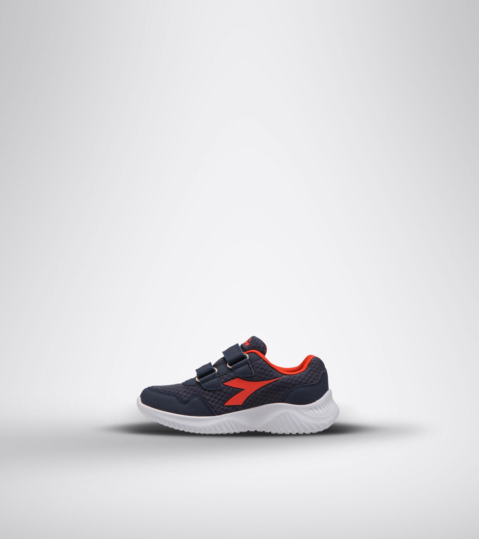 Chaussures de running - Unisexe enfant ROBIN 2 JR V BLEU DOMAINE/ROUGE HAUT RISQUE - Diadora
