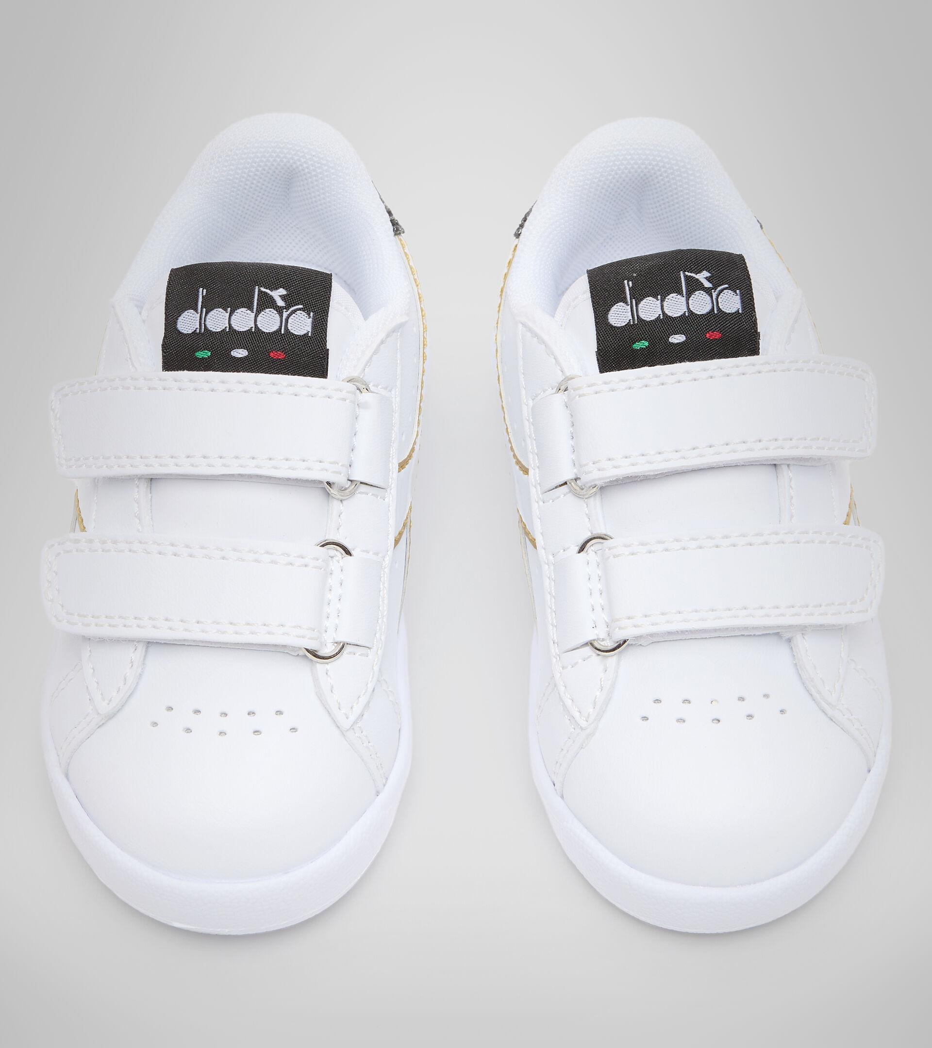 Footwear Sport BAMBINO GAME P TD GIRL WHITE/BLACK/GOLD Diadora