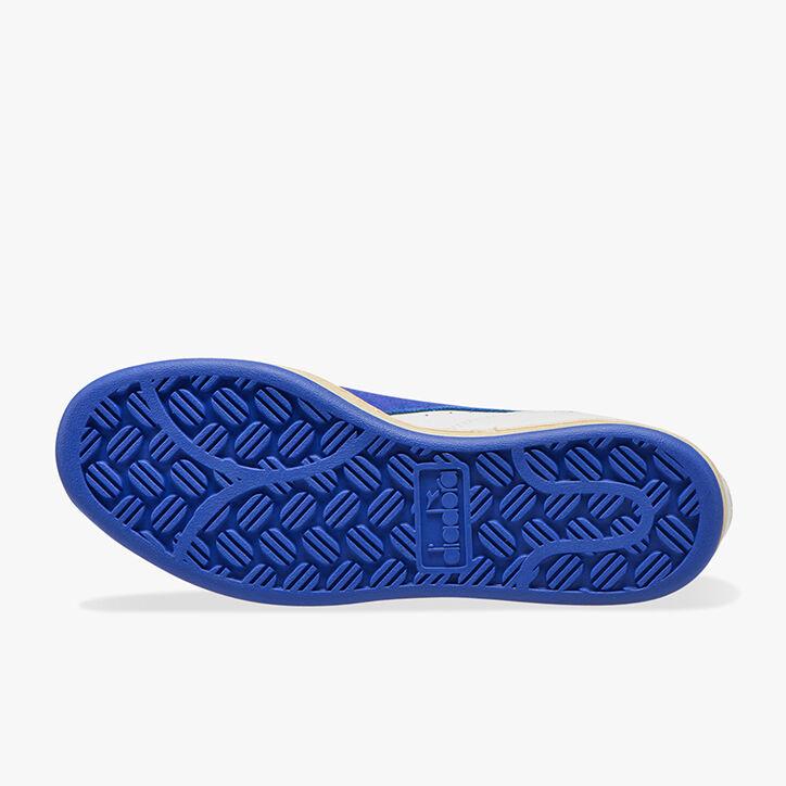 MI BASKET LOW ICONA, WHITE/AMPARO BLUE/ORANGEADE, large