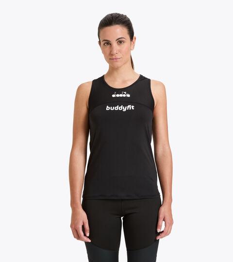 Workout tank top - Women L. SUPER LIGHT TANK BUDDYFIT BLACK - Diadora