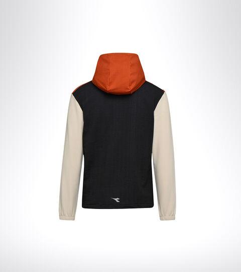 Lauf-Sweater - Herren HD LIGHTWEIGHT SWEAT BE ONE SCHWARZ/MANDELMILCH - Diadora