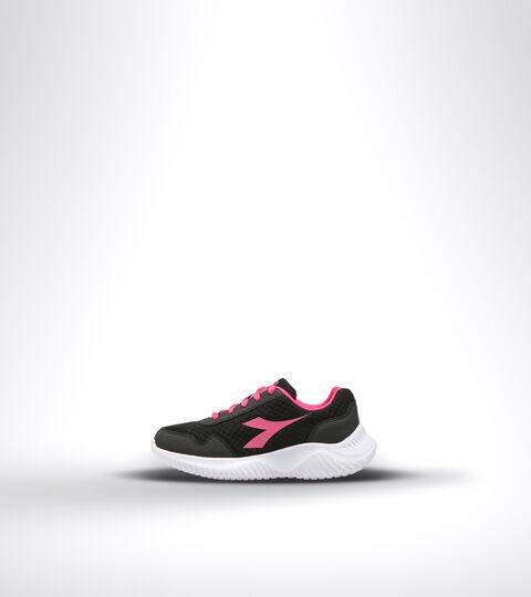 Running shoe - Unisex kids ROBIN 2 JR BLACK/MAGENTA - Diadora