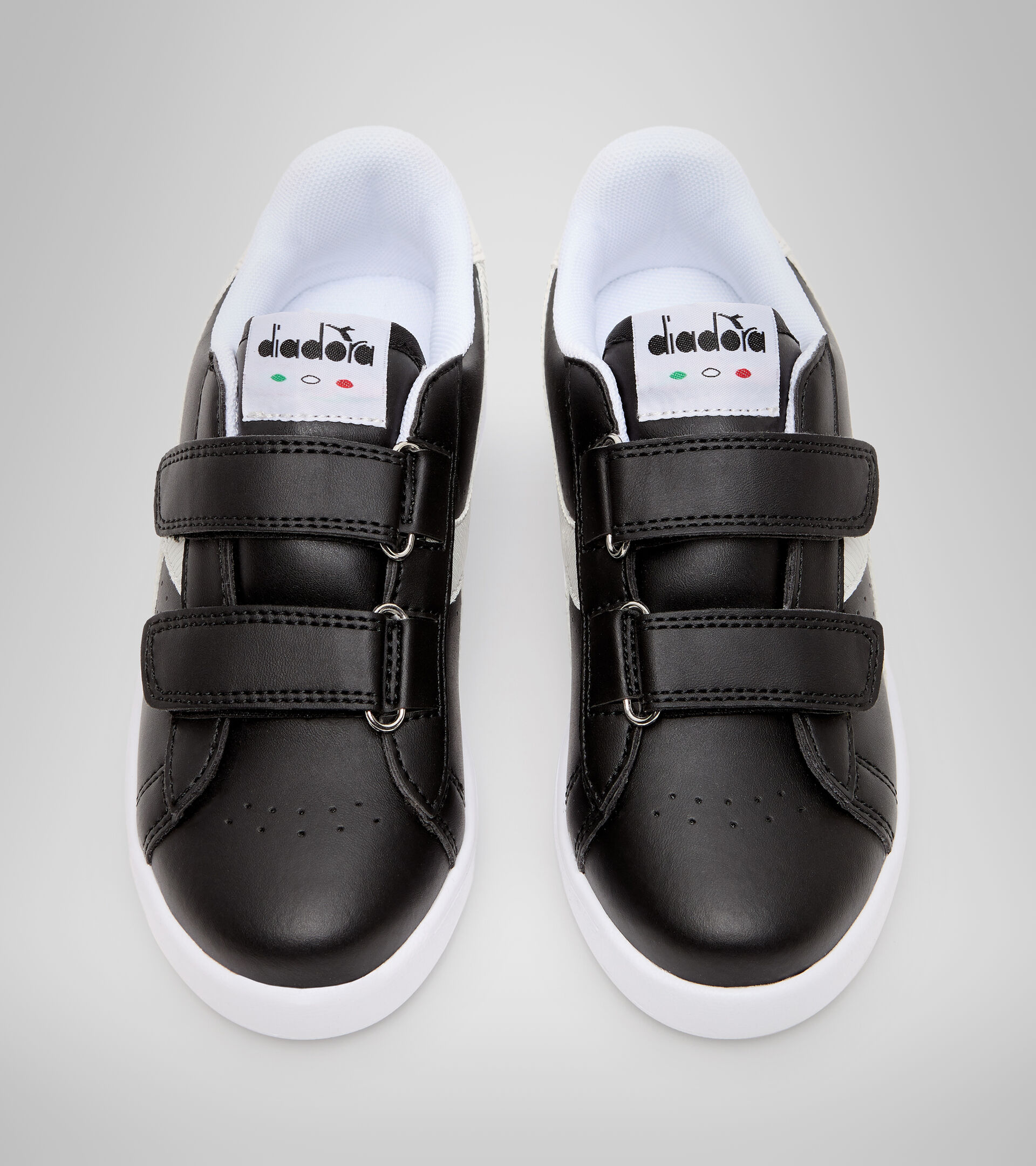 Sports shoes - Kids 4-8 years GAME P PS GIRL BLACK /WHITE - Diadora