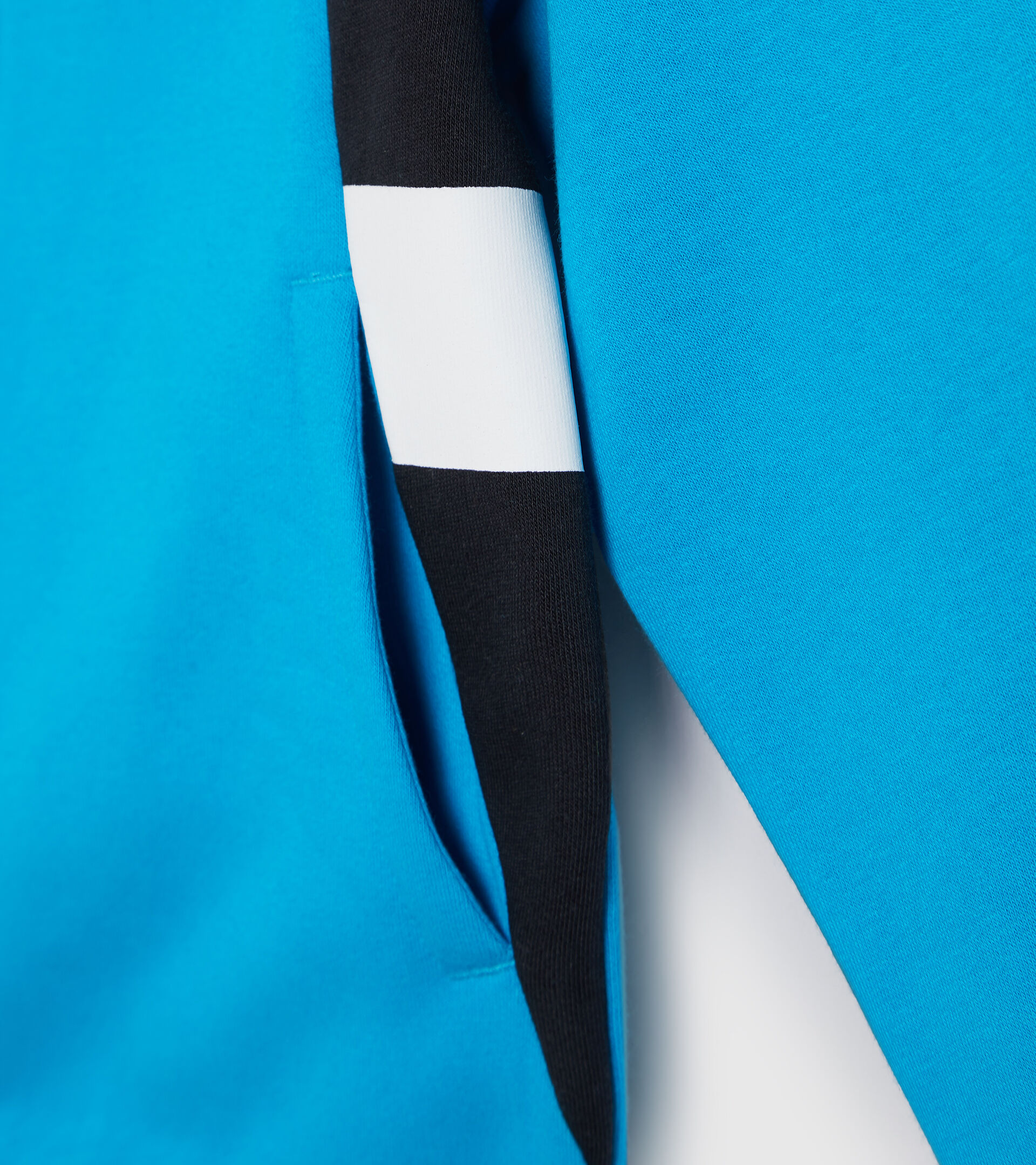 Apparel Sport BAMBINO JB.TRACKSUIT HD FZ HOOPLA SKY-BLUE DANUBE Diadora