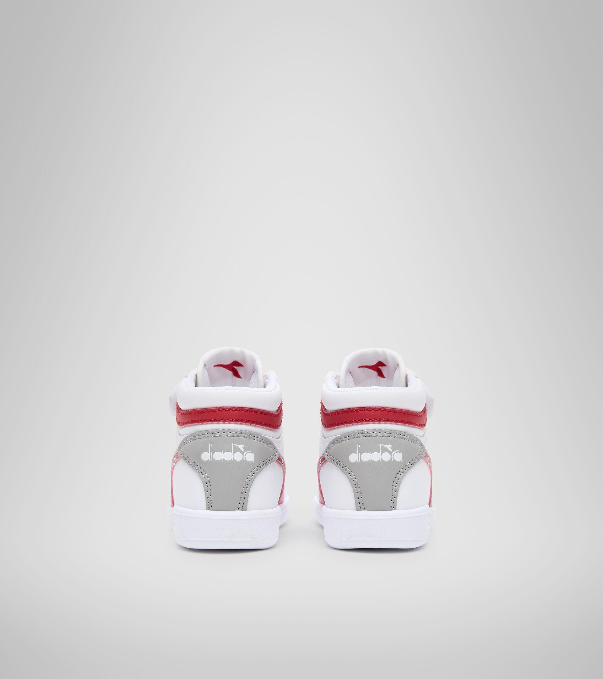 Footwear Sport BAMBINO GAME P HIGH TD WHITE/TANGO RED Diadora