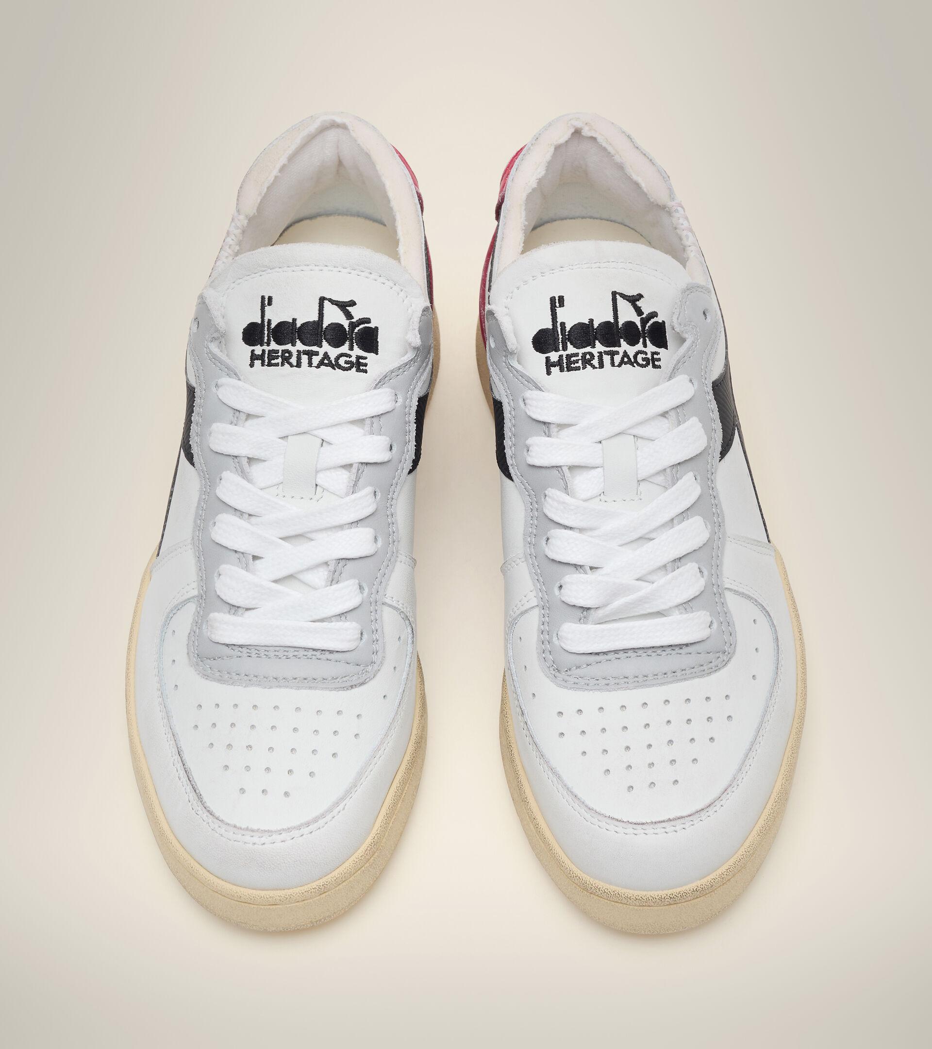 Chaussures Heritage - Unisexe MI BASKET ROW CUT BLANC/GRENAT/NOIR - Diadora