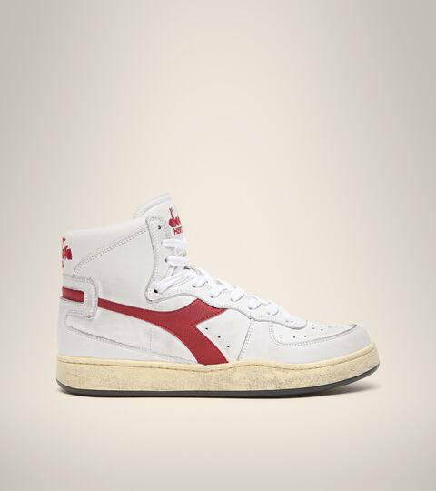 Heritage-Sneaker - Unisex  MI BASKET USED WEISSE/GRANAT - Diadora