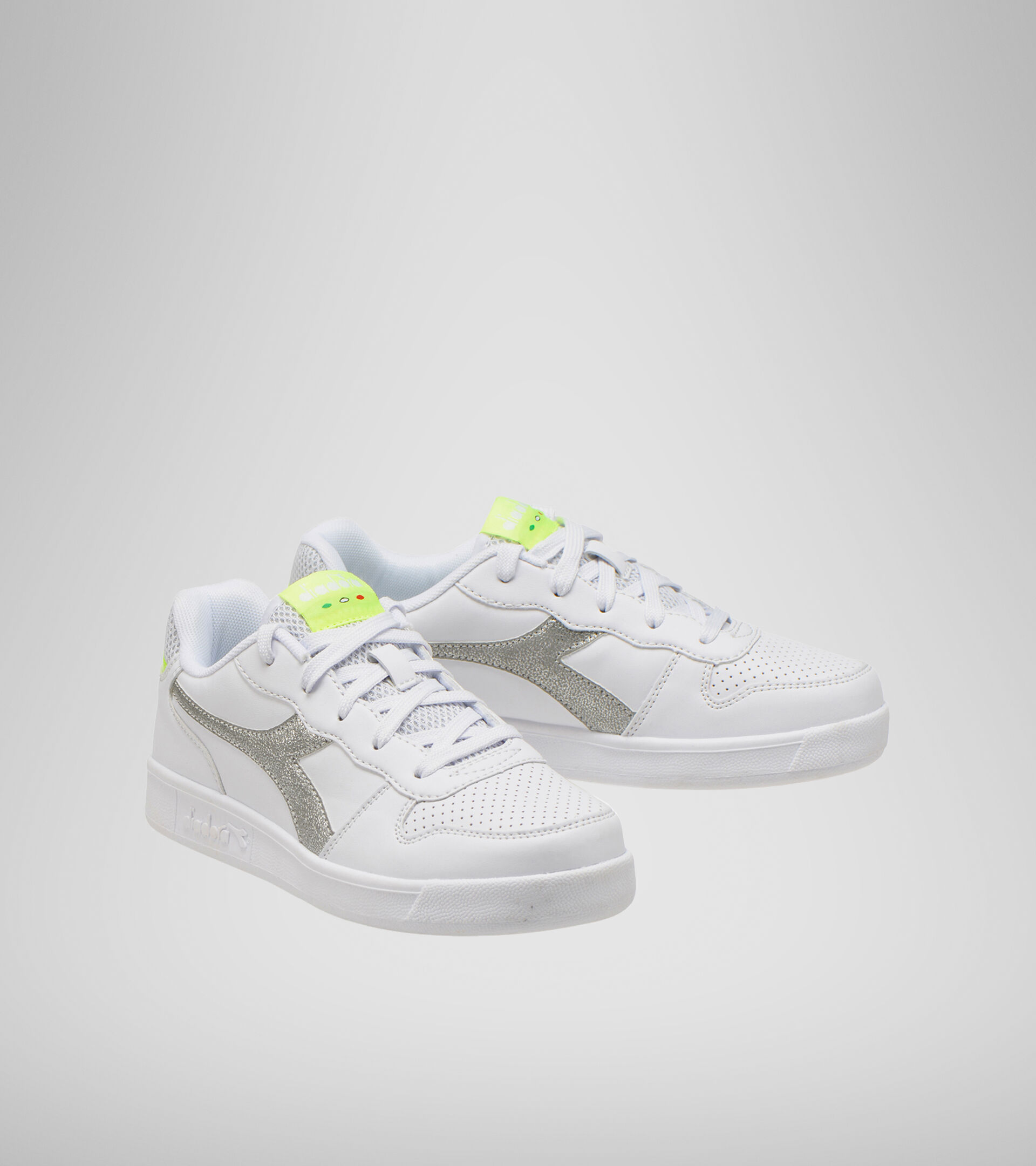 Footwear Sport BAMBINO PLAYGROUND GS GIRL WHITE/YELLOW FLUO. Diadora
