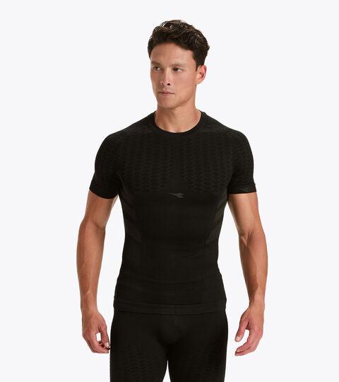 Short-sleeved training t-shirt - Men SS T-SHIRT ACT BLACK - Diadora