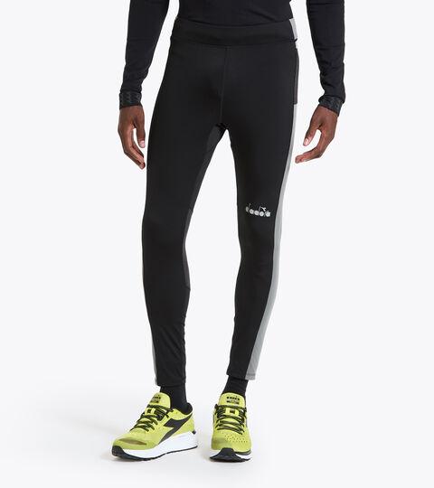 Running leggings - Men RUNNING TIGHTS OYSTER MUSHROOM/GRY QUIET SHAD - Diadora